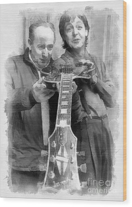 Les And Paul Wood Print by Paulette B Wright