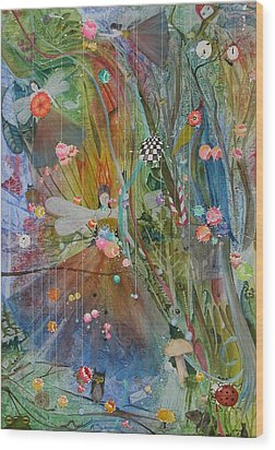 Wood Print featuring the painting Les Carioles by Jackie Mueller-Jones