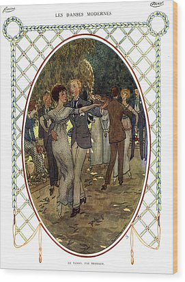 Les Dances Modernes  France Cc Tango Wood Print by The Advertising Archives