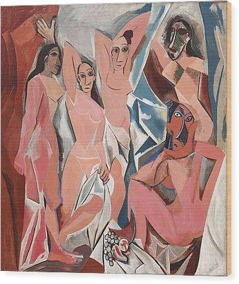 Les Demoiselles D Avignon Wood Print by Pablo Picasso
