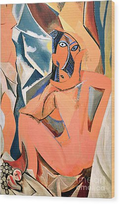 Les Demoiselles D'avignon Picasso Detail Wood Print