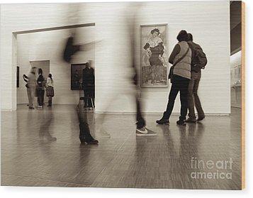 Les Fantasmes De Pompidou Wood Print
