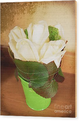 Wood Print featuring the photograph Les Fleurs by Maria Janicki