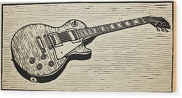 Les Paul Wood Print by William Cauthern