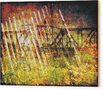 Wood Print featuring the photograph Less Travelled 22 by The Art of Marsha Charlebois