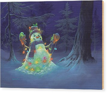 Let It Glow Wood Print by Michael Humphries