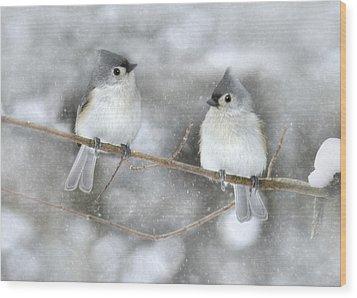 Let It Snow Wood Print by Lori Deiter
