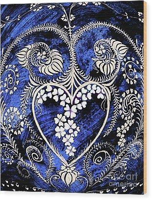 Let Love Rule The World. Wood Print by Anjali Vaidya