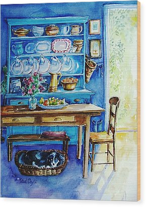 Let Sleeping Dogs Lie Wood Print by Trudi Doyle