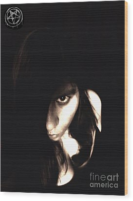 Wood Print featuring the photograph Let The Darkness Take Me by Vicki Spindler
