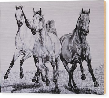 Let The Dinner Bell Ring Wood Print by Cheryl Poland