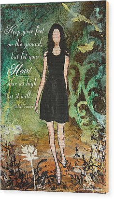 Let Your Heart Soar Wood Print by Janelle Nichol