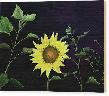 Wood Print featuring the painting Let Your Light So Shine by Jane Autry