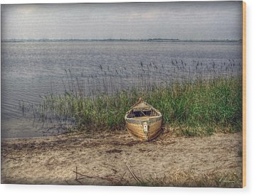 Wood Print featuring the photograph L'etang by Hanny Heim