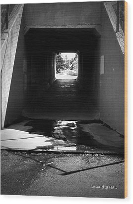 Lethbridge Underpass Wood Print by Donald S Hall