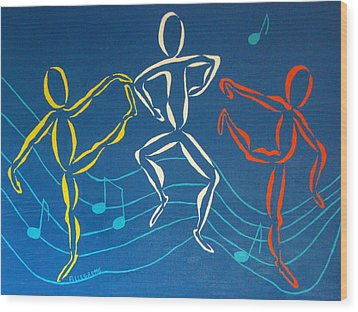 Let's Dance Wood Print by Pamela Allegretto