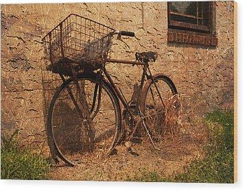 Let's Go Ride A Bike Wood Print by Michael Porchik
