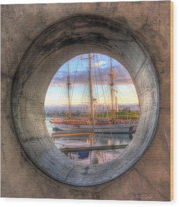 Let's Pretend It's A Porthole Wood Print by Heidi Smith