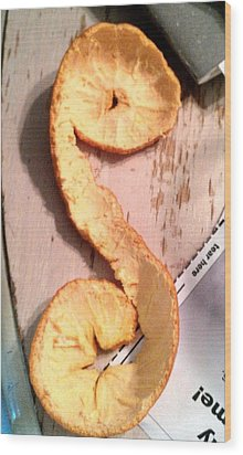 Letter A-peel Wood Print by Lexa Newman