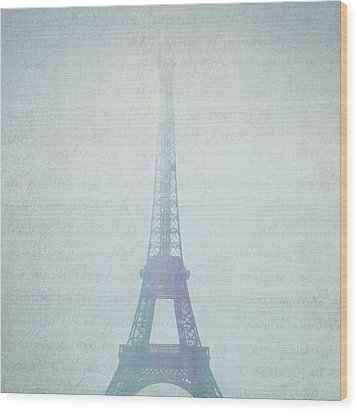 Letters From Paris Wood Print by Lisa Parrish