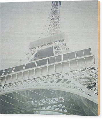 Letters From The Eiffel - Paris Wood Print by Lisa Parrish