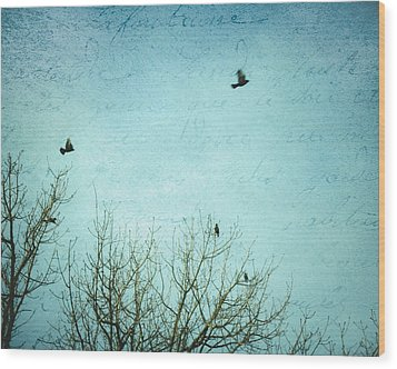 Wood Print featuring the photograph Letters Of Flight by Lisa Parrish