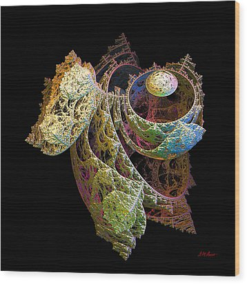 Levitation Wood Print by Michael Durst