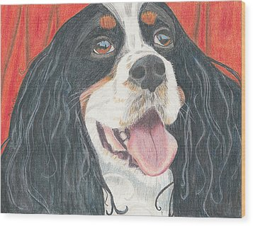 Wood Print featuring the drawing Lexie by Arlene Crafton