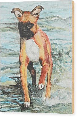Wood Print featuring the painting Leyla by Jeanne Fischer