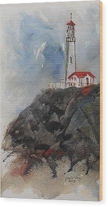 Lghthouse Wood Print