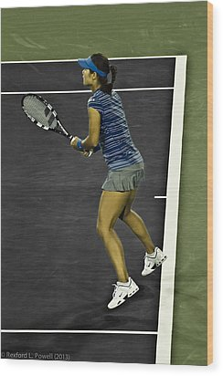 Li Na Wood Print by Rexford L Powell
