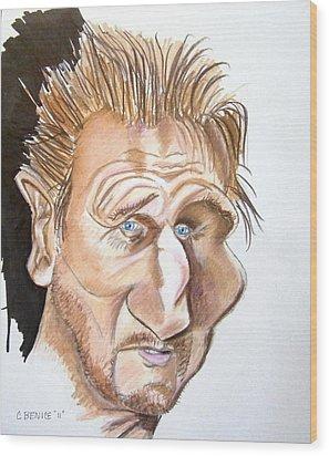 Liam Neeson Wood Print by Chris Benice