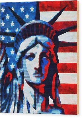 Liberty 2 Wood Print by Angelina Vick
