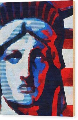 Liberty 3 Wood Print by Angelina Vick