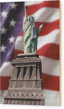 Liberty Wood Print