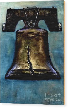Liberty Bell Wood Print by Craig Green