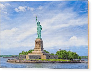Liberty Enlightening The World - New York City Wood Print by Mark E Tisdale