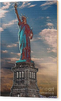 Wood Print featuring the photograph Liberty For All by Luther Fine Art