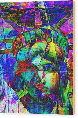 Liberty Head Abstract 20130618 Wood Print by Wingsdomain Art and Photography