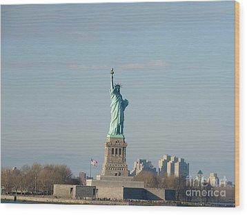 Liberty Herself Wood Print by Julie Koretz