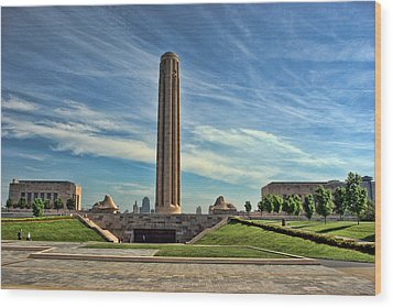 Liberty Memorial Monument And National World War 1 Museum Wood Print by Tim McCullough