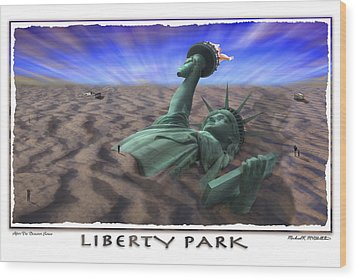 Liberty Park Wood Print by Mike McGlothlen