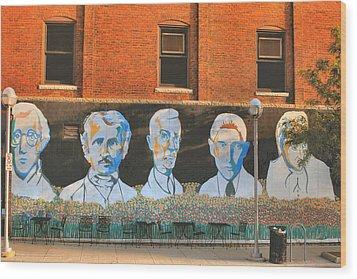 Liberty Street Mural Wood Print