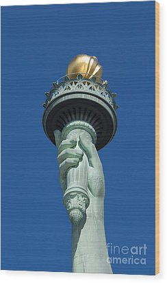 Liberty Torch Wood Print by Brian Jannsen