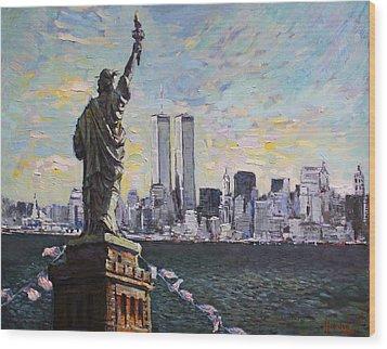 Liberty Wood Print by Ylli Haruni