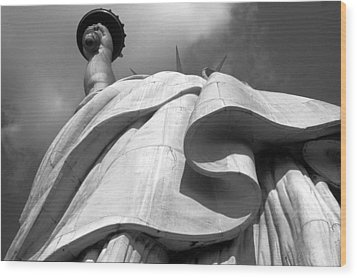 Liberty's Gown Wood Print by Keith Marsh