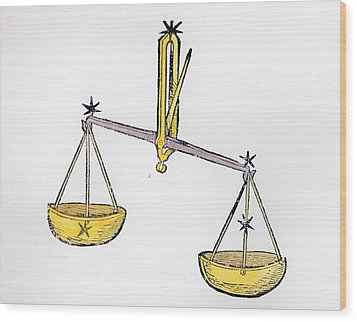 Libra An Illustration From The Poeticon Wood Print by Italian School