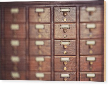 Wood Print featuring the photograph Library Case by Heather Green