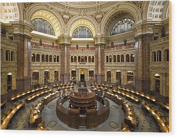 Library Of Congress Wood Print by Mountain Dreams