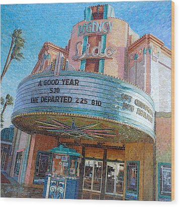 Lido Theater Wood Print